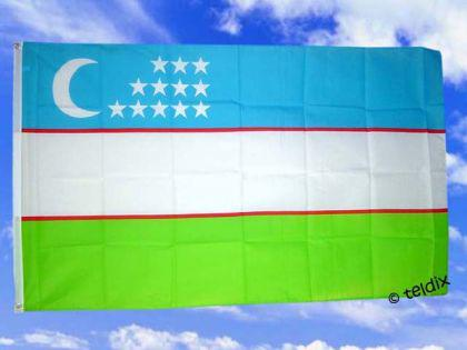 Flagge Fahne USBEKISTAN 150 x 90 cm