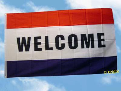Flagge Fahne WELCOME 150 x 90 cm