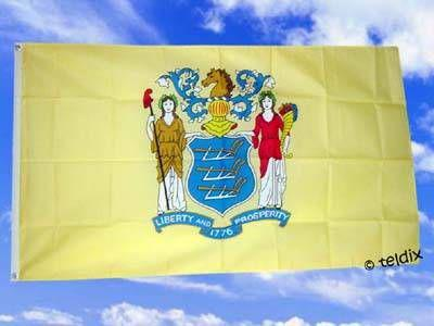 Flagge Fahne NEW JERSEY 150 x 90 cm