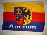 Flagge Fahne AMRUM MIT WAPPEN 135 x 90 cm