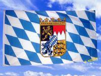 Flagge Fahne BAYERN DIENSTFLAGGE M. RAUTEN 150x90cm