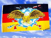 Flagge Fahne DEUTSCHLAND BUNTER ADLER 150 x 90 cm
