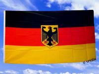 Flagge Fahne DEUTSCHLAND MIT ADLER 150 x 90 cm