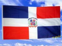Flagge Fahne DOMINIKANISCHE REP. M. WAPPEN 150x90cm