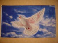 Flagge Fahne FLIEGENDE WEIßE TAUBE 150 x 90 cm