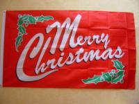 Flagge Fahne MERRY CHRISTMAS rot 150 x 90 cm