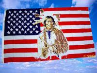 Flagge Fahne USA INDIANER 150 x 90 cm