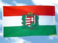 Flagge Fahne UNGARN MIT WAPPEN 150 x 90 cm