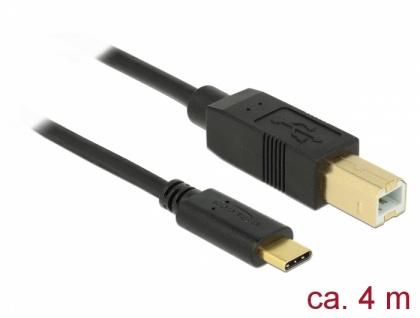 USB 2.0 Kabel Type-C zu Typ-B 4 m, Delock® [83667]