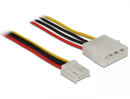 Stromkabel 4 Pin Stecker an 4 Pin Floppy Buchse 40 cm, Delock® [83821]