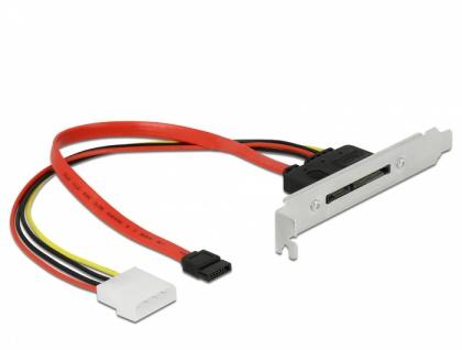 Slotblech mit 1 x SATA 22 Pin Stecker extern, Delock® [90418]