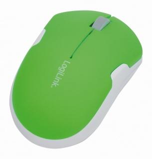 2, 4 GHz Optische Travel Funk Maus, 1200 dpi, Neon-Grün, LogiLink® [ID0123]