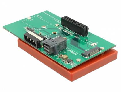 U.2 SFF-8643 Adapter zu PCIe x4 oder M.2 Key M Slot mit Befestigungsplatte, Delock® [63952]