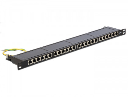 19' Patchpanel 24 Port Cat.6 0.5 HE schwarz, Delock® [43316]