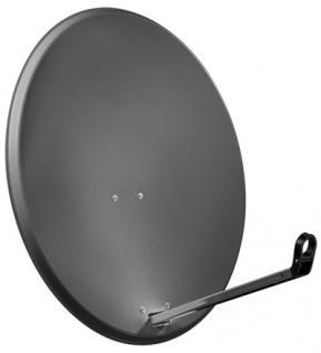 Alu-Satellitenspiegel, 80 cm, anthrazit - Vorschau