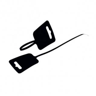 kabelmeister® Kabelbinder, Euroloch und Beschriftungsfeld, RAL 8022, VE 100 Stück, schwarz, 4, 8 x 250mm