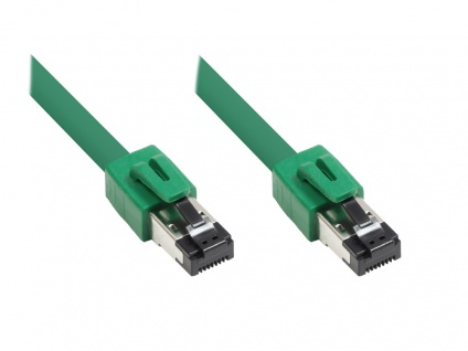 Kabelmeister® Patchkabel Cat. 8, S/FTP, PiMF, halogenfrei, 2000MHz, grün, 25m