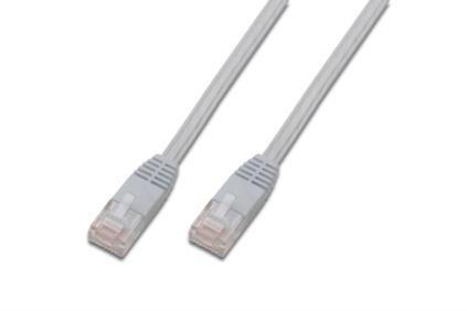 kabelmeister® Patchkabel, Cat. 5e, U/UTP, FLACHKABEL, weiß, 0, 5m