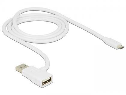 Kabel USB 2 in 1 A Stecker an A Buchse + Micro B Stecker Ladekabel, Delock® [83774]