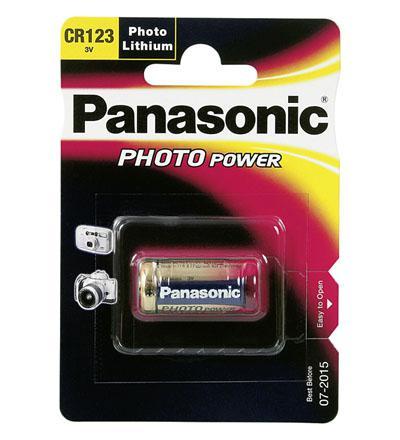 Panasonic® Batterie Lithium Photo für z.B. Kameras, CR 123 A P; 1er Blister