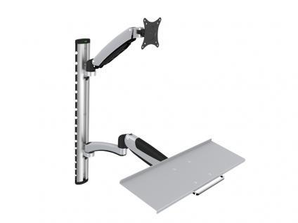 Monitor- & Tastaturhalterung für LCD/LED, bis zu 27'(bis 69 cm), Belastung bis 8kg, Digitus® [DA-90354]