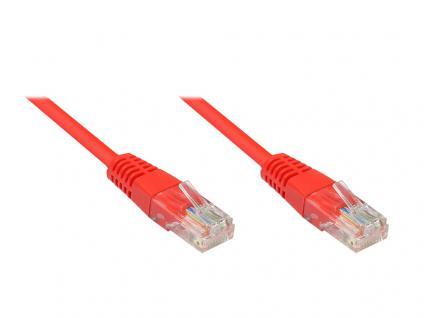 kabelmeister® Patchkabel, Cat. 5e, U/UTP, rot, 0, 25m