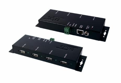 LAN PoE 1Giga zu 4 x USB 2.0 Ports Metallgehäuse, Exsys® [EX-6002POE]