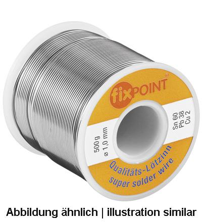 Lötzinn 1000g Rolle, ø 1mm, Material: L-Sn 60% / Pb 38% / Cu 2%