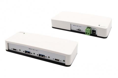 4-Port USB 3.1 Gen.2 HUB mit 2x C- und 2x A-Anschlüsse, inkl. Netzteil 12V/3A, Din-Rail-Kit und USB Kabel C-C, Exsys® [EX-1250V]