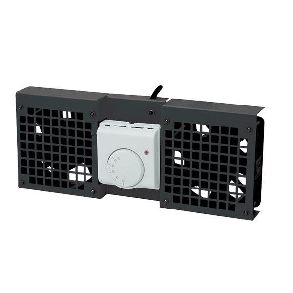 Dachlüftereinsatz für Wandgehäuse mit 1 Lüfter, schwarz, LogiLink® [FAW101B]