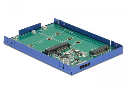 2, 5' Konverter USB 3.1 Micro-B Buchse an M.2 / mSATA mit Gehäuse, Delock® [62731]