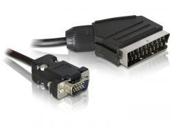 Kabel, Video Scart Ausgang an VGA Eingang, 2m, Delock® [65028]