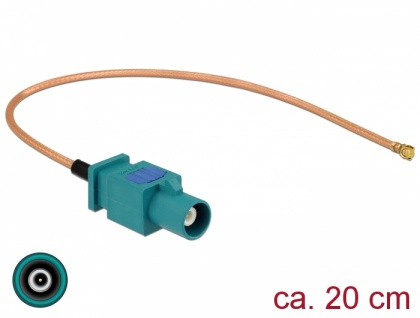 Antennenkabel FAKRA Z Stecker zu MHF® I Stecker RG-178 20 cm, Delock® [89665]
