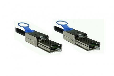 kabelmeister® SAS Kabel SFF-8088 auf SFF-8088 Amphenol, ext. mini SAS auf ext. mini SAS, AWG 28, 2m