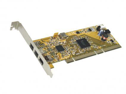 PCI-X Karte, FireWire 1394B 64-Bit mit 3 Ports, TI-Chip-Set, Exsys® [EX-6410]