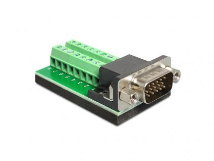 Adapter VGA Stecker an Terminalblock 16 Pin, Delock® [65424]