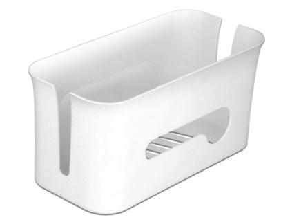 Kabelmanagement Box mit Aufbewahrungsfach weiß / grau, Delock® [18290]