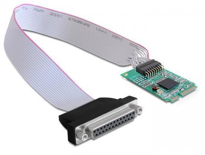 Schnittstellenkarte MiniPCIe I/O PCIe full size Parallel 1x DB25 Buchse, Delock® [95227]