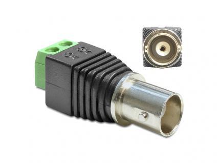 Adapter BNC Buchse an Terminalblock 2 Pin, Delock® [65416]