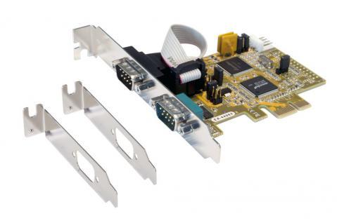 PCIe 2S Seriell RS232 Karte inkl. Low Profil Bügel (SystemBase Chip-Set), Exsys® [EX-44062]