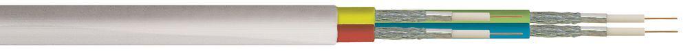 Koaxialkabel SAT 75 Ohm, doppelt geschirmt, weiß, 100m, auf Spule, Good Connections®