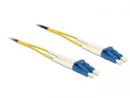 Kabel Lichtwellenleiter LC an LC Singlemode OS2, 1m, Delock® [84599]