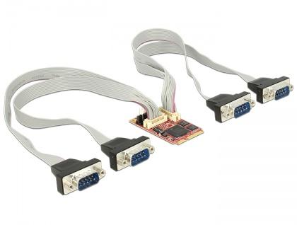 Modul MiniPCIe I/O PCIe full size 4 x Seriell RS-232/422/485 -40 ____deg; C ~ 85 ____deg; C, Delock® [95250]