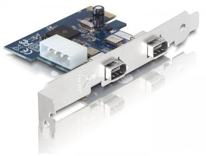 PCI Express Card an FireWire A 2 Port (IEEE 1394a), Delock® [89202]