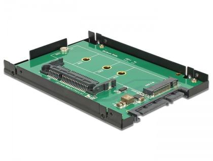 2.5? Konverter SATA 22 Pin an 1x M.2 / 1 x CFast - 9, 5mm Gehäuse, Delock® [62944]