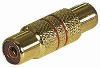 kabelmeister® Audio Adapter vergoldet Cinch Buchse / Cinch Buchse, vollmetall