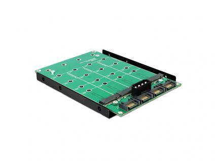 Konverter 3, 5', 4 x SATA 7 Pin an 4 x M.2 NGFF, Delock® [62554]
