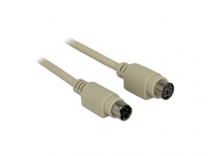 Verlängerungskabel PS/2 Stecker an PS/2 Buchse, grau, 30 m, Delock® [84706]