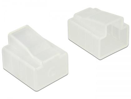 Staubschutz für RJ45 Stecker 10 Stück, transparent, Delock® [64016]