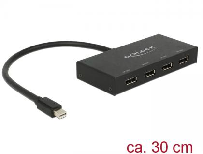 Displayport 1.2 Splitter 1x mini Displayport in an 4x Displayport out 4K, Delock® [87693]